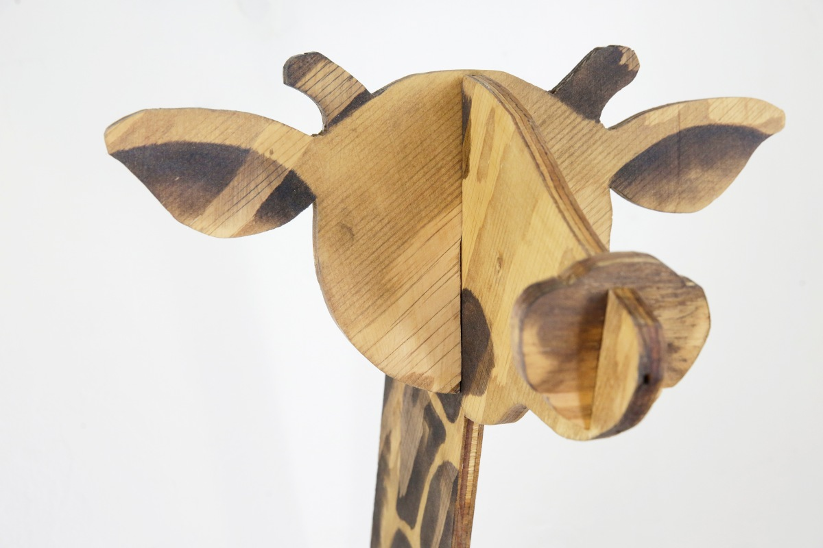 Wooden Animal Busts by Gus